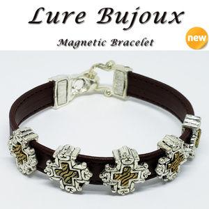 NEW Lure Bujoux Women's Magnetic Cross Bracelet